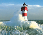 Roter Sand Lighthouse, Bremerhaven, Germany