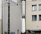 Edgar Kerets Thinnest House, Warsaw, Poland